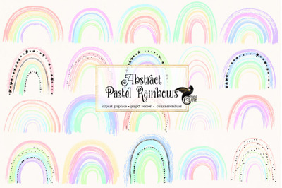 Abstract Pastel Rainbow Clipart