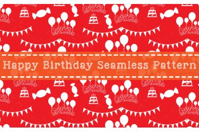 Happy Birthday Seamless Pattern Design