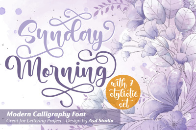 Sunday Morning - Modern Calligraphy