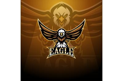 Eagle esport mascot logo