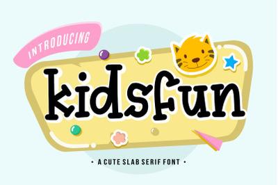 Kidsfun Cute Slab Serif Font