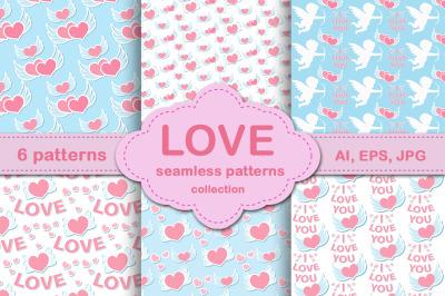 Love seamless pattern. Valentine's Day