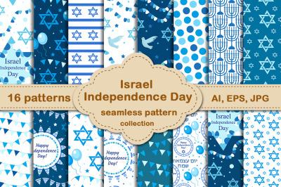 Israel Independence Day pattern set