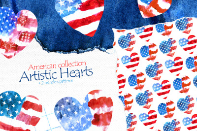 "American collection ""Artistic Hearts"""
