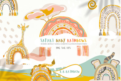 Safari Baby Rainbows Modern Abstract Collection