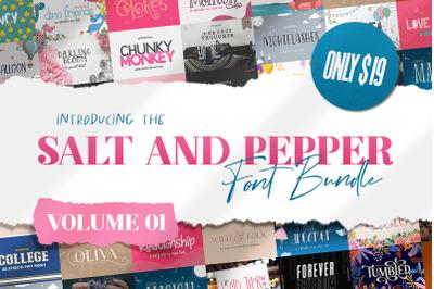 The Salt & Pepper Font Bundle - Volume One