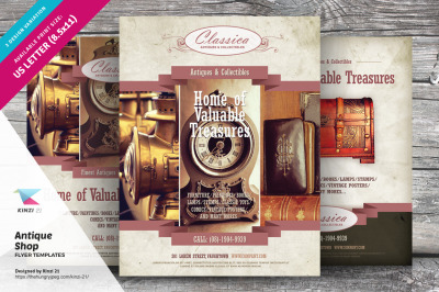 Antique Shop Flyer Templates