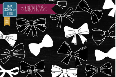 Hand Drawn Bows | Bow Tie illustration | Ribbon Fashion  Accessories