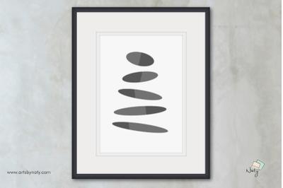 Equilibrium Zen Stones Printable Wall Art