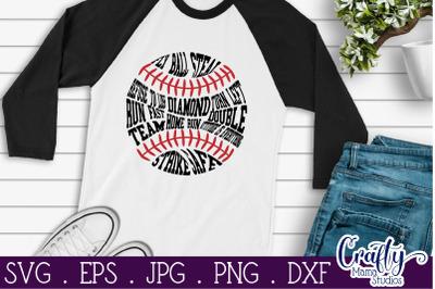 Baseball Words Svg, Baseball Mom Svg, Sports Svg