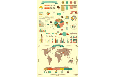 Hand Drawn Doodle Design Elements and Icons. Infographic.