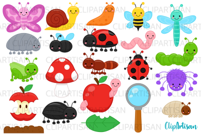 Bugs Clip Art, Insect Illustrations, Mini Beasts