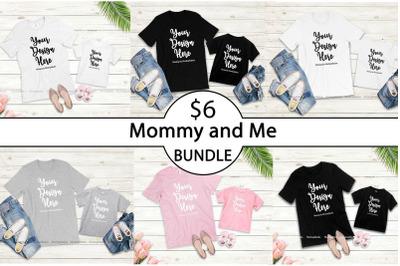 Mommy and Me Tshirt Mockup Bundle, Bella Canvas 3001 3001T Mock Up