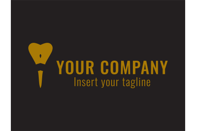Logo Gold Black Background Bone Icon