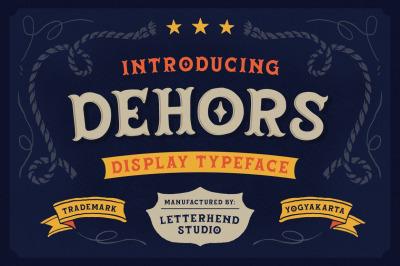Dehors - Western Display Typeface