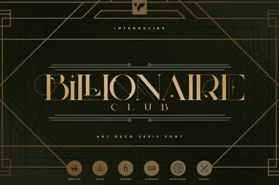 Billionaire Club - Art Deco Serif