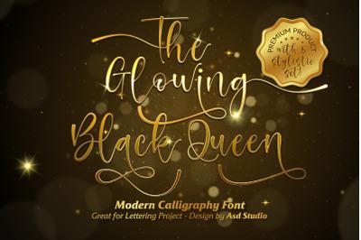 The Glowing Black Queen