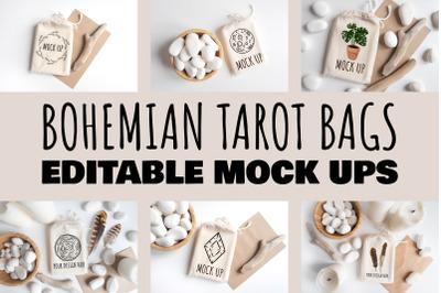 Bohemian Tarot Bags Mock Ups