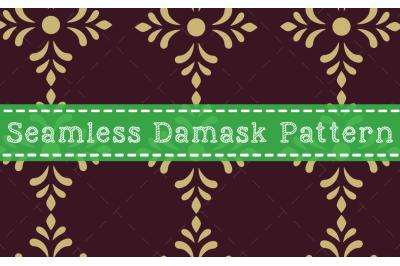Seamless Damask Pattern Design