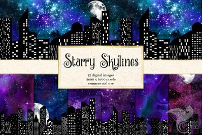 Starry Skylines Digital Paper