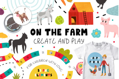 On The Farm - Create & Play
