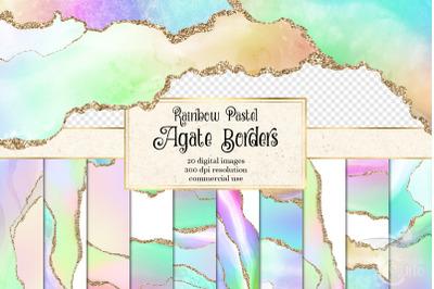 Rainbow Pastel Agate Borders