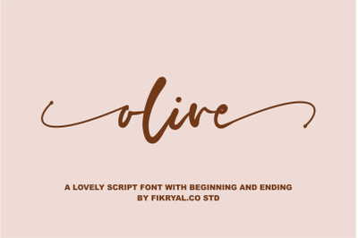 olive - Font  is a new modern & stylish handwritten font.