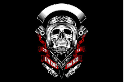 skull mafia with gun hand drawing vector