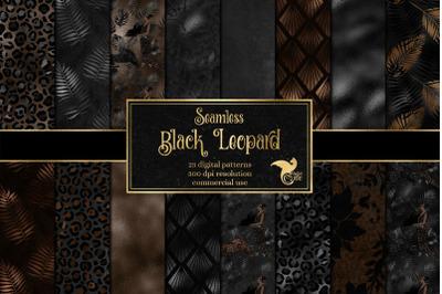 Black Leopard Digital Paper