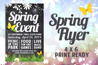 Chalk Spring Flyer Template