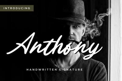 Anthony Handwritten Signature