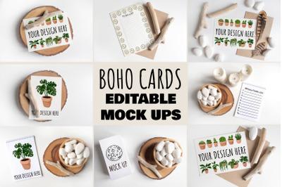 Boho Cards Mock Ups