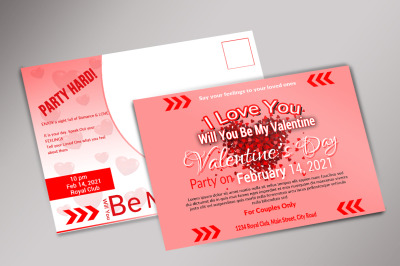 Valentines Day post card