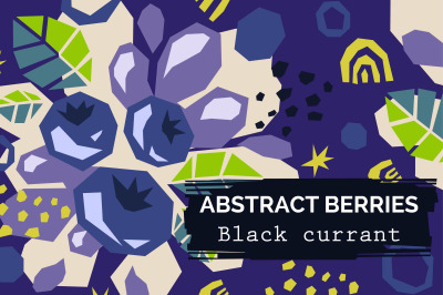 Black currant - Modern abstract patterns