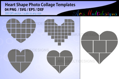 Heart shape Photo Collage SVG