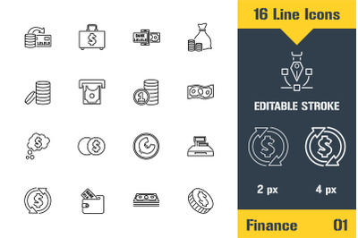 Business, Finance, Cash Icons
