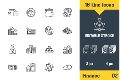 Money, Finance, Payments Icons