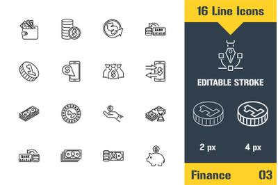 Banking, Finance, Money Icons