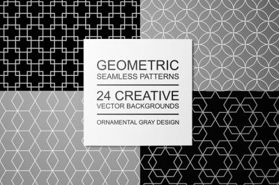 Geometric seamless ornate patterns