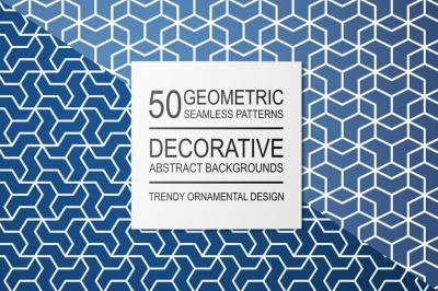 Ornament seamless geometric patterns