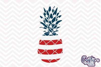 Pineapple Svg, USA Flag Pineapple Svg, American Flag Svg