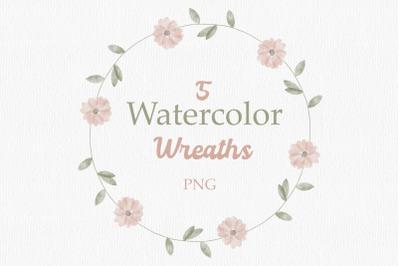 Flower Watercolor Wreaths