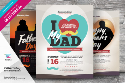 Father's Day Flyer Templates