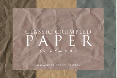 Classic Crumpled Paper Textures