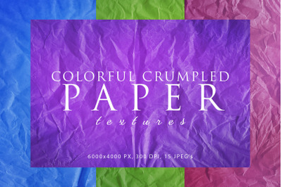 Colorful Crumpled Paper Textures