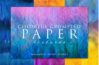 Colorful Crumpled Paper Textures 2