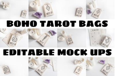Boho Tarot Bags Mock Ups
