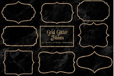 Gold Glitter Frames Clipart