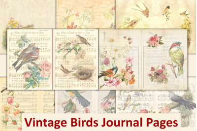 Vintage Birds Backgrounds