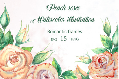 Peach roses! Romantic frames